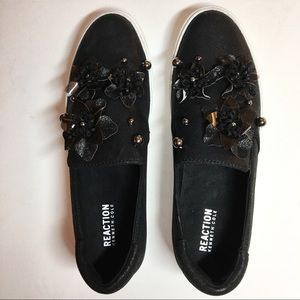 Kenneth Cole Reaction Sneakers Black Slip-on 8.5 M